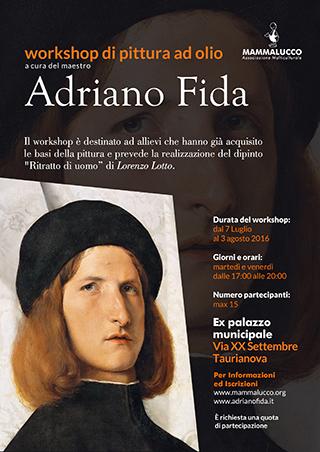 locandina workshop pittura Adriano Fida 2016 Taurianova min
